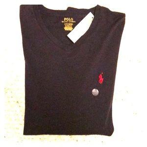 NWT Ralph Lauren Men's Navy Blue tee size L